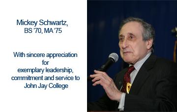 Mickey Schwartz, BS '70, MA '75