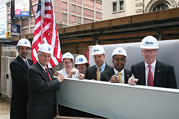 John Jay's New Building Tops-Out