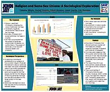 RELIGION AND SAME SEX UNIONS: A SOCIOLOGICAL EXPLORATION