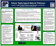 FATHERS' RIGHTS AGAINST MATERNAL PREFERENCE
