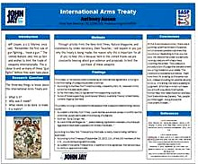 INTERNATIONAL ARMS TREATY