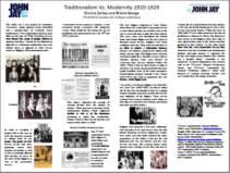 TRADITIONALISM VS. MODERNITY 1920 - 1929