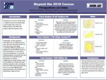 BEYOND 2010 CENSUS: PERSPECTIVES ON CRIME