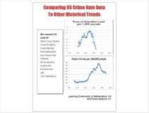 COMPARING U.S. CRIME RATE DATA TO OTHER HISTORICAL TRENDS