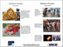 CARNIVAL IN TRINIDAD AND HOLYDAYS IN ECUADOR