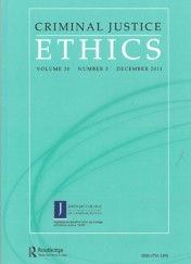 Criminal Justice Ethics journal cover
