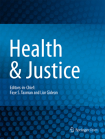 Health and Justice journal cover