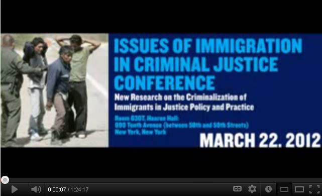 """Issues Of Immigration In Criminal Justice"" Panel 2 video"